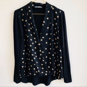 Olivia moon from Nordstrom faux wrap polka dot top